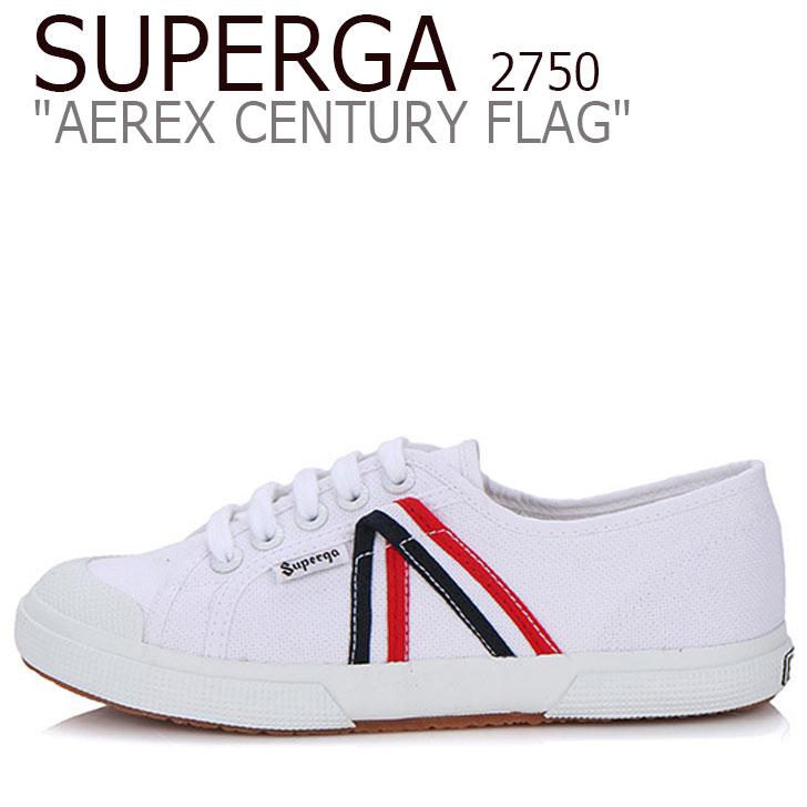 フラッグ アレックス シューズ ホワイト センチュリー スニーカー 2750 2750 メンズ レディース CENTURY WHITE S00A6M0 AEREX FLAG SUPERGA スペルガ