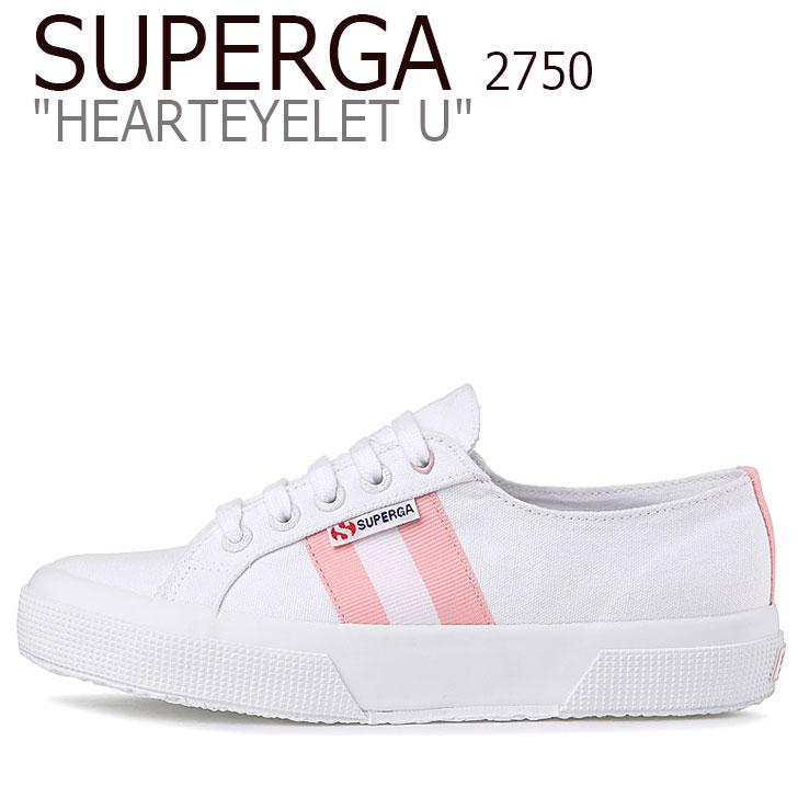 スペルガ スニーカー SUPERGA レディース 2750 HEARTEYELET U 2750 ハートアイレット U WHITE ホワイト PINK ピンク S00G2W0 902 シューズ