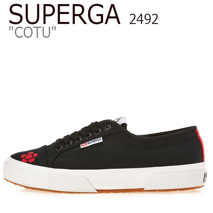 スペルガ スニーカー SUPERGA メンズ レディース 2492 COTU 2492 コート BLACK ブラック S00GQ80 904 シューズ