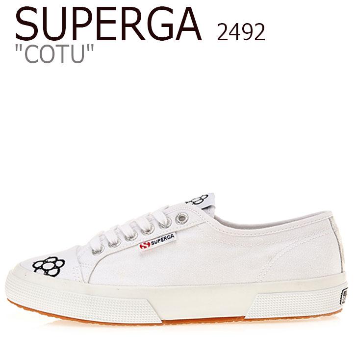 WHITE シューズ S00GQ80 COTU スペルガ 2492 スニーカー 2492 コート ホワイト 906 レディース SUPERGA メンズ