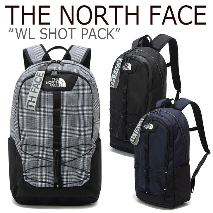 ノースフェイス バックパック THE NORTH FACE メンズ レディース WL SHOT PACK ショット パック リュック GRAY BLACK NAVY グレー ブラック ネイビー NM2DK52J/K/L バッグ 【中古】未使用品