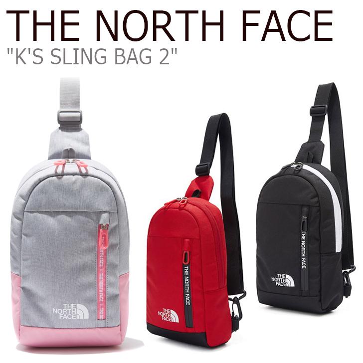 ノースフェイス ボディーバッグ THE NORTH FACE キッズ K'S SLING BAG 2 スリングバッグ BLACK RED ブラック レッド NN2PK50R/S バッグ 【中古】未使用品