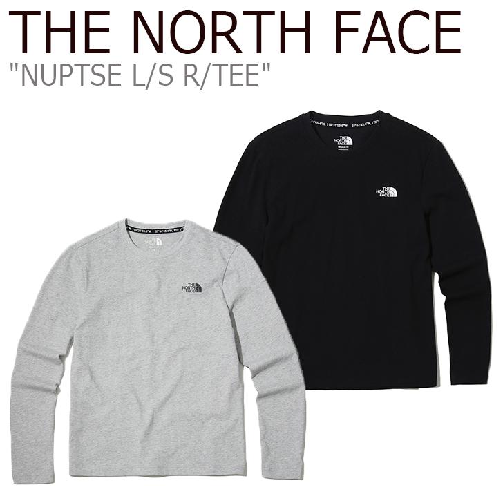 ノースフェイス ロンT THE NORTH FACE メンズ レディース NUPTSE L/S R/TEE ヌプシ ロングスリーブ ラウンドTEE GREY BLACK グレー ブラック NT7TK02J/K ウェア 【中古】未使用品