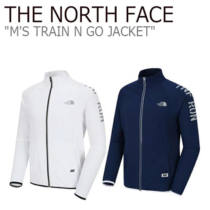 ノースフェイス ジャケット THE NORTH FACE メンズ M'S TRAIN N GO JACKET トレインN ゴージャケット White Navy ホワイト ネイビー NJ5JJ02A/B ウェア 【中古】未使用品