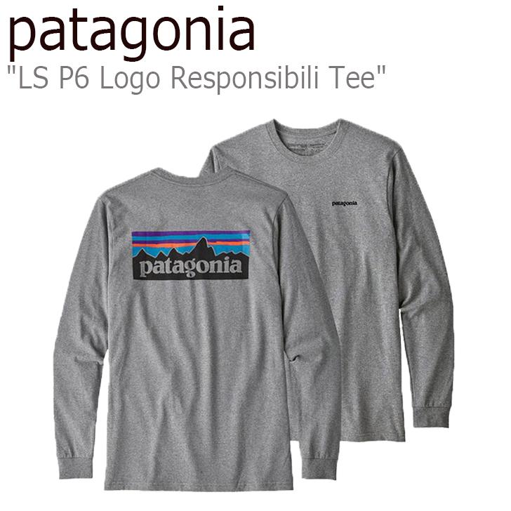 パタゴニア ロンT patagonia メンズ L/S P6 Logo Responsibili Tee ロングスリーブ P6 ロゴ レスポンシビリティー 長袖 Gravel Heather グレー 39161 ウェア