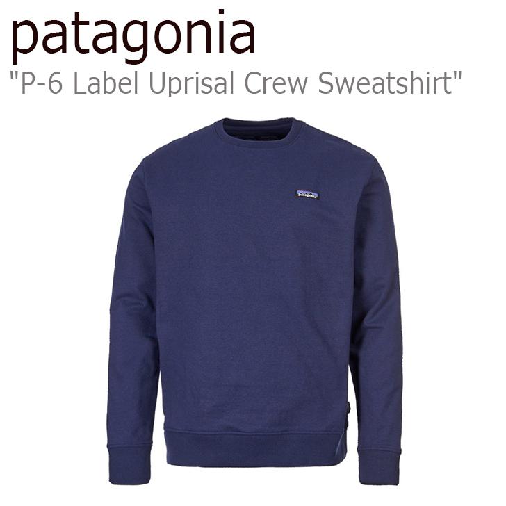 パタゴニア スウェット patagonia メンズ P-6 Label Uprisal Crew Sweatshirt P-6 ラベル アップライザル クルー スウェットシャツ NAVY ネイビー 39543 ウェア