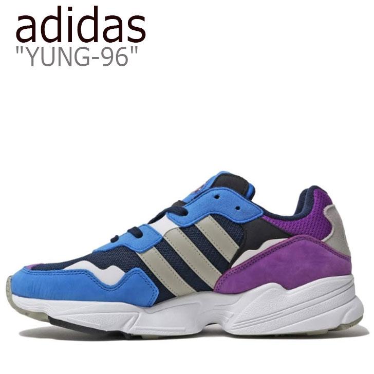 アディダス スニーカー adidas メンズ レディース YUNG-96 ヤング 96 BLUE ブルー PURPLE パープル DB2606 シューズ 【中古】未使用品