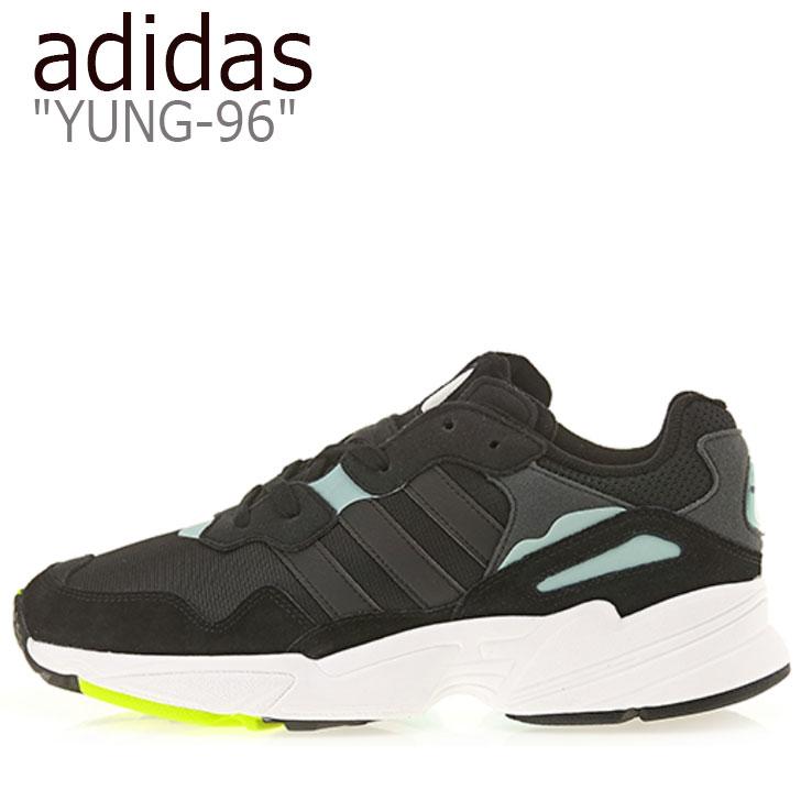 アディダス スニーカー adidas メンズ レディース YUNG-96 ヤング 96 BLACK ブラック MINT ミント BD8042 シューズ 【中古】未使用品