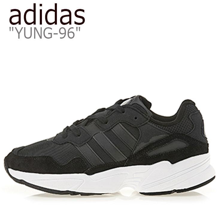アディダス スニーカー adidas メンズ レディース YUNG-96 ヤング 96 BLACK ブラック EE3681 シューズ 【中古】未使用品