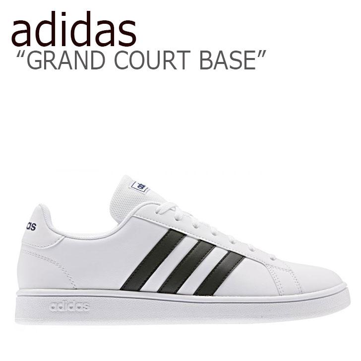 アディダス スニーカー adidas メンズ レディース GRAND COURT BASE グランドコートベース WHITE BLACK ホワイト ブラック EE7904 シューズ 【中古】未使用品
