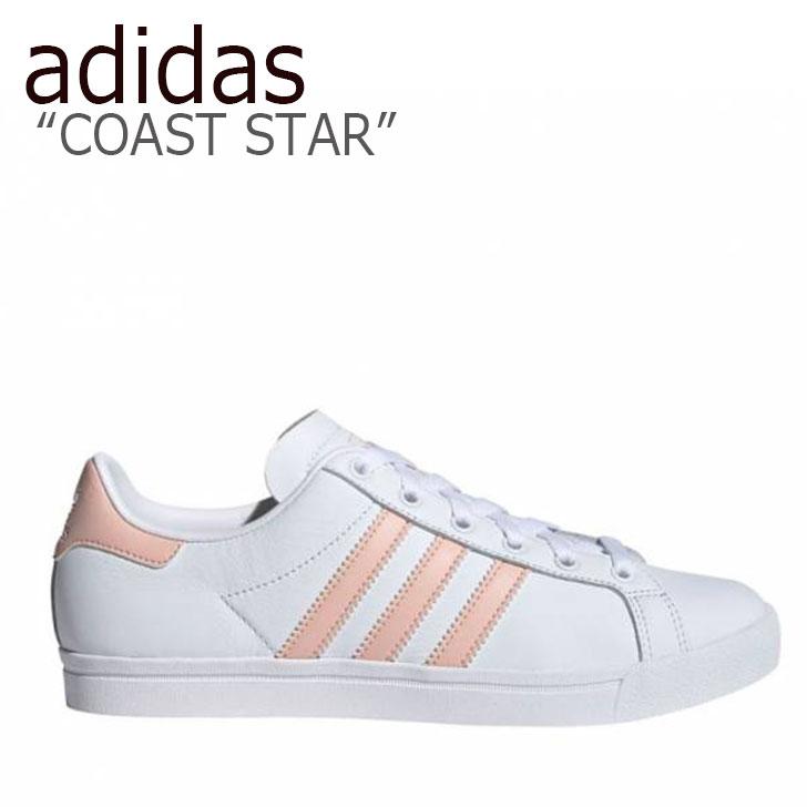 アディダス スニーカー adidas レディース COAST STAR コーストスター WHITE PINK ホワイト ピンク EE8910 シューズ 【中古】未使用品