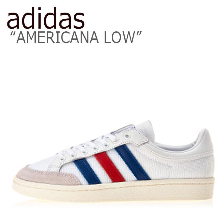 アディダス スニーカー adidas メンズ レディース AMERICANA LOW アメリカーナ ロウ WHITE BLUE RED ホワイト ブルー レッド EF2508 シューズ 【中古】未使用品