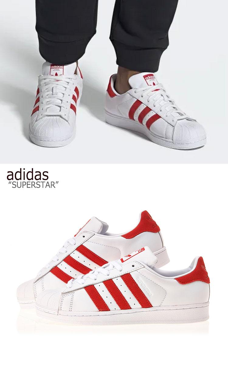 adidas superstar white red off 57