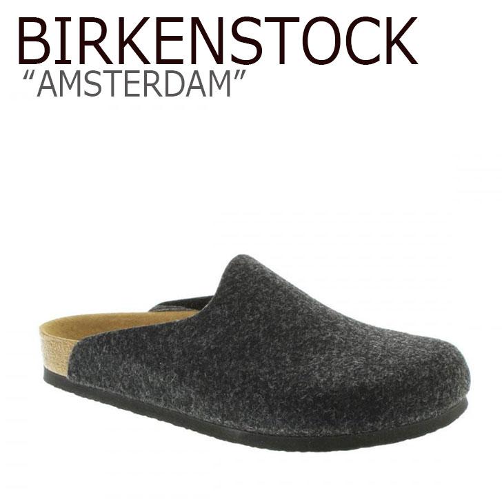 ビルケンシュトック サンダル BIRKENSTOCK メンズ AMSTERDAM アムステルダム DARK グレー ダークグレー 559121 シューズ 【中古】未使用品