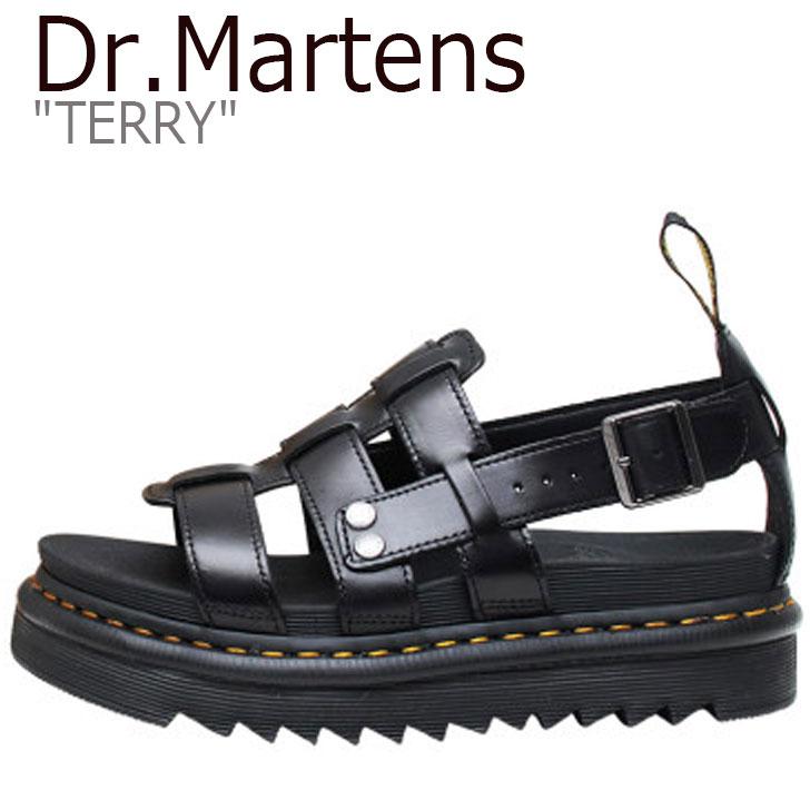 ドクターマーチン サンダル Dr.Martens メンズ レディース TERRY テリー BLACK ブラック DMT23521001 23521001 シューズ 【中古】未使用品