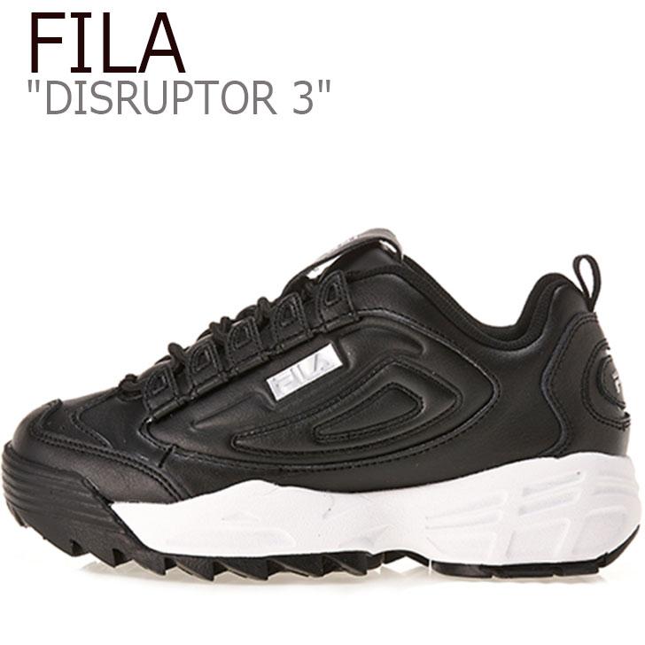 フィラ ディスラプター スニーカー FILA メンズ レディース DISRUPTOR 3 ディスラプター3 BLACK ブラック WHITE ホワイト FS1HTB1223X シューズ
