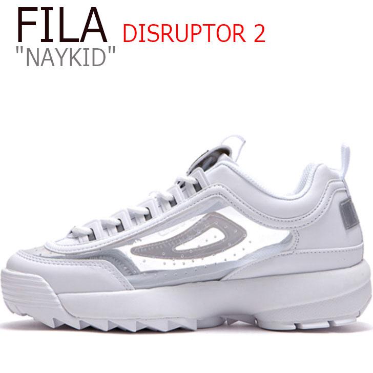 フィラ ディスラプター スニーカー FILA メンズ レディース DISRUPTOR 2 NAYKID ディスラプター2 ネイキッド WHITE ホワイト FS1HTB3504X FLFL9F3U26 シューズ