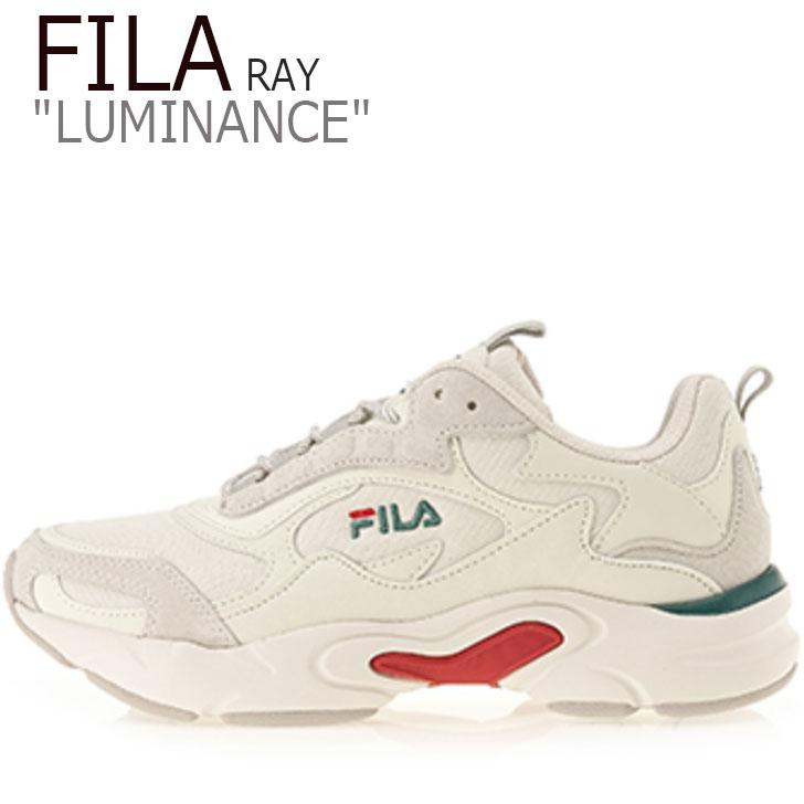 フィラ レイ スニーカー FILA メンズ レディース RAY LUMINANCE レイ ルミナンス BEIGE ベージュ GREEN グリーン RED レッド FS1SIB1462X シューズ
