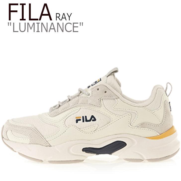 フィラ レイ スニーカー FILA メンズ レディース RAY LUMINANCE レイ ルミナンス BEIGE ベージュ NAVY ネイビー YELLOW イエロー FS1SIB1463X シューズ