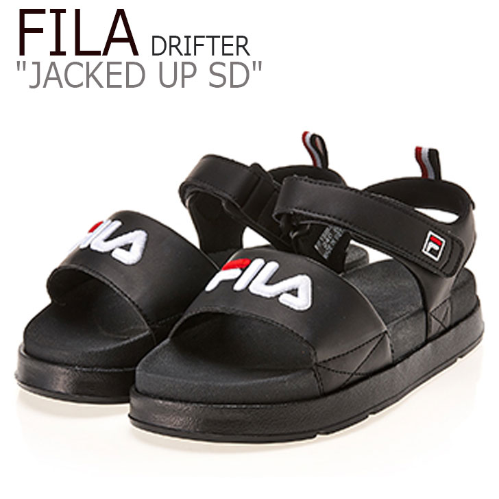 フィラ サンダル FILA レディース DRIFTER JACKED UP SD ドリフター ジャック アップ BLACK ブラック FS1SIB2021X FLFL9S2W71 シューズ