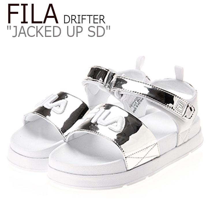 フィラ サンダル FILA レディース DRIFTER JACKED UP SD ドリフター ジャック アップ WHITE ホワイト SILVER シルバー FS1SIB2024X シューズ