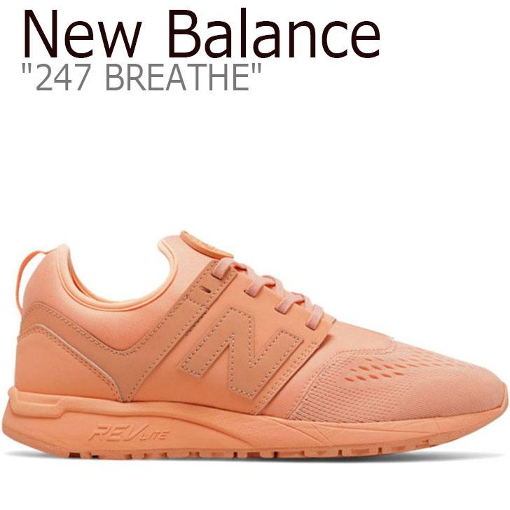 247 Peach スニーカー Balance ニューバランス New MRL247OS ブリース 【中古】未使用品 レディース Breathe シューズ ピーチ