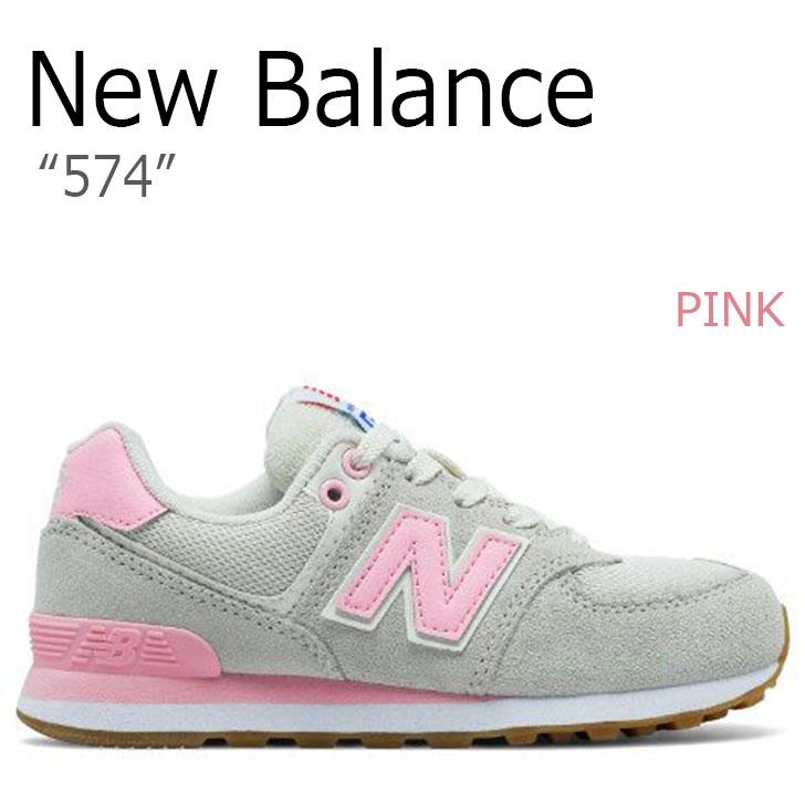 ニューバランス スニーカー NEW BALANCE 574 レディース PINK ピンク GRAY グレー KL574RYG シューズ 【中古】未使用品