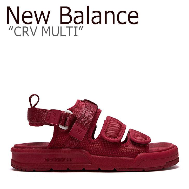 ニューバランス サンダル New Balance メンズ レディース CRV MULTI SD 3205 EDD RED レッド SD3205EDD シューズ 【中古】未使用品