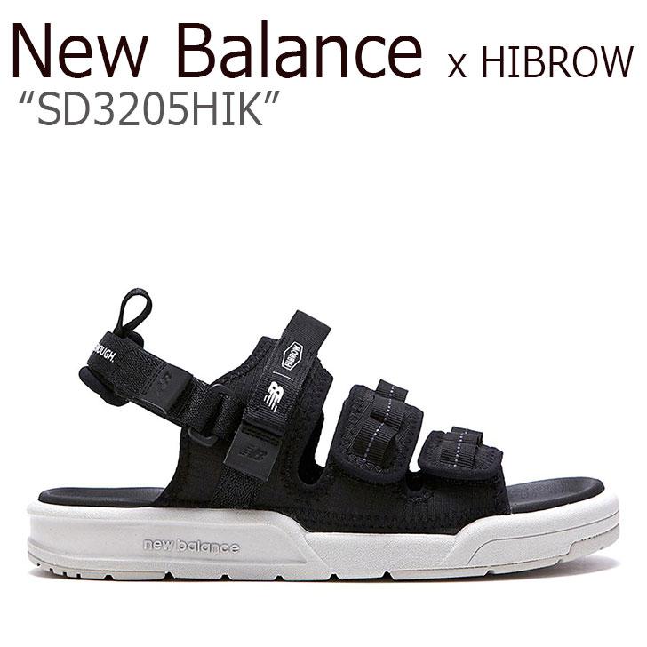 ニューバランス サンダル New Balance x HIBROW コラボ メンズ レディース SD 320 5HIK BLACK ブラック SD3205HIK シューズ 【中古】未使用品