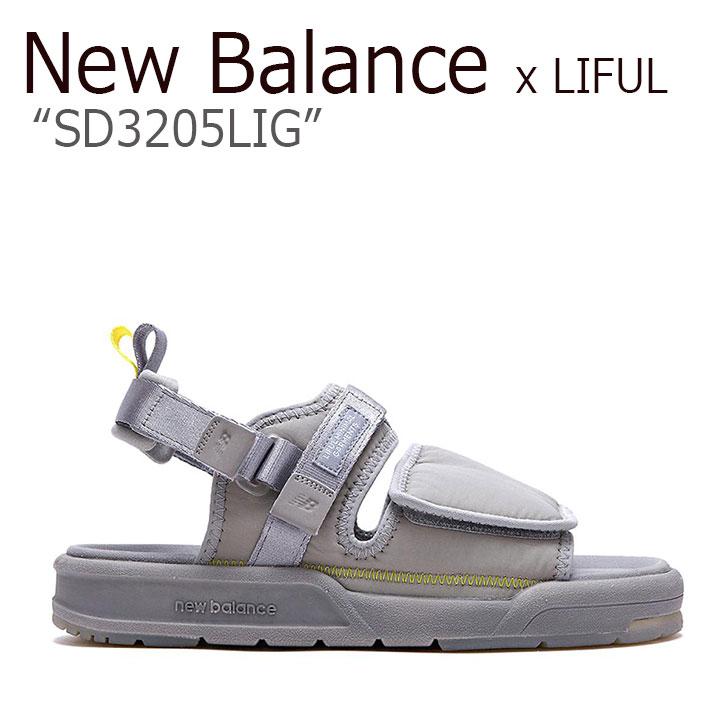 ニューバランス サンダル New Balance x LIFUL ライフル コラボ メンズ レディース SD 3205 LIG GRAY グレー SD3205LIG シューズ 【中古】未使用品