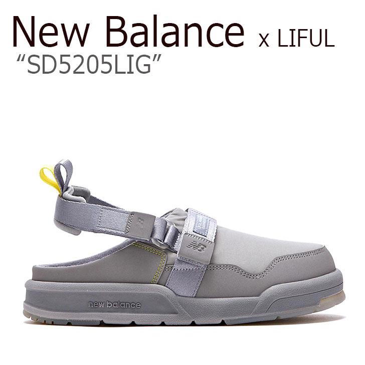 ニューバランス サンダル New Balance x LIFUL ライフル コラボ メンズ レディース SD 5205 LIG GRAY グレー SD5205LIG シューズ 【中古】未使用品