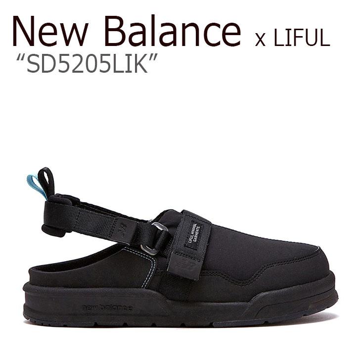 ニューバランス サンダル New Balance x LIFUL ライフル コラボ メンズ レディース SD 5205 LIK 黒 ブラック SD5205LIK シューズ 【中古】未使用品