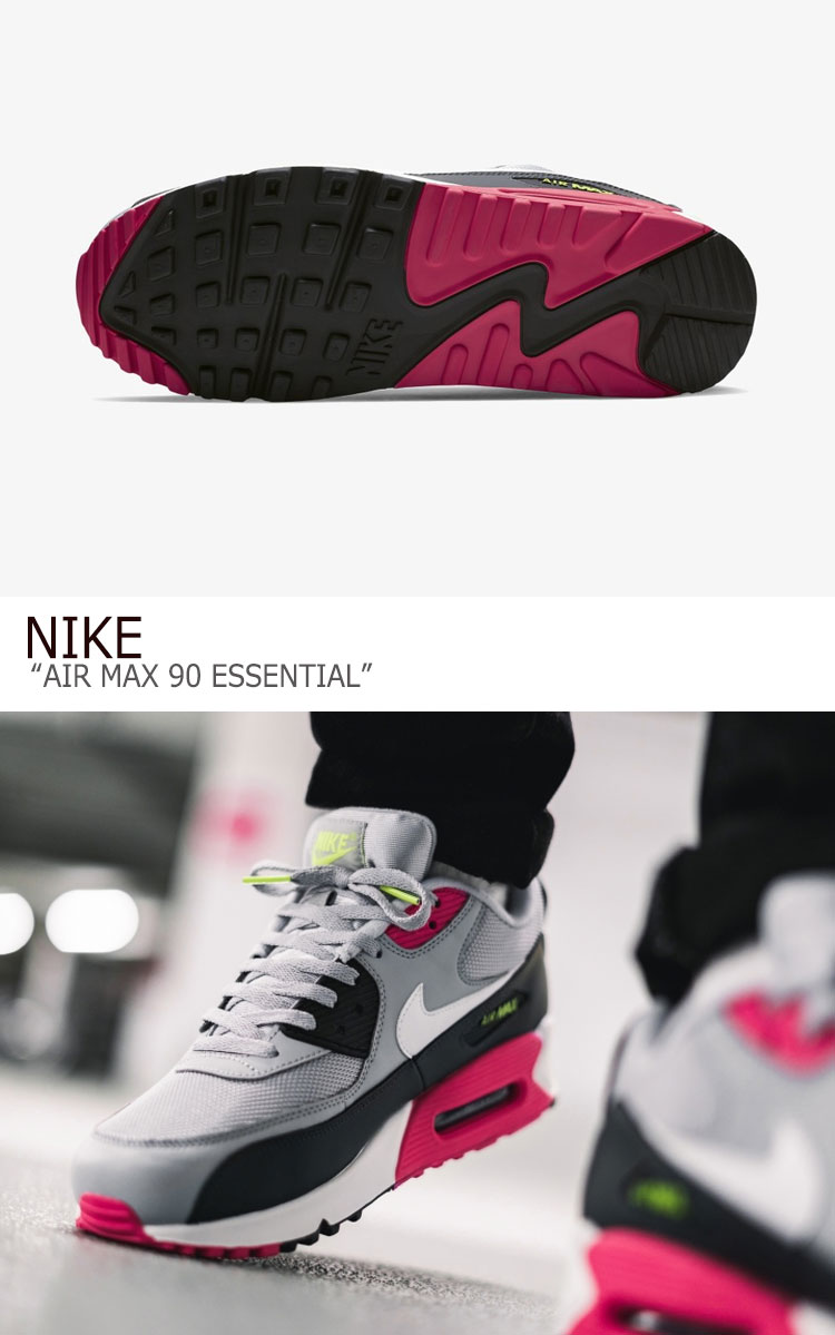 Kie Ney AMAX 90 sneakers NIKE men AIR MAX 90 ESSENTIAL Air Max 90 essential GREY PINK gray pink AJ1285 020 shoes free article