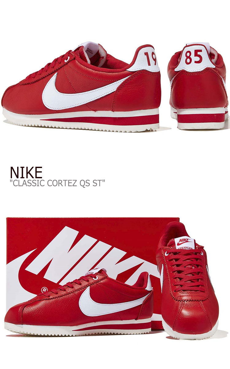 Nike sneakers NIKE men CLASSIC CORTEZ QS ST クラシックコルテッツ RED let CK1907 600 shoes free article