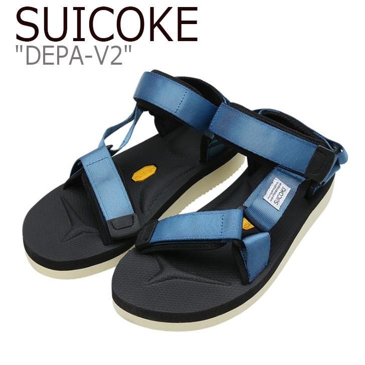 スイコック サンダル SUICOKE メンズ レディース DEPA-V2 デパV2 BLUE ブルー S1404SN04BL シューズ