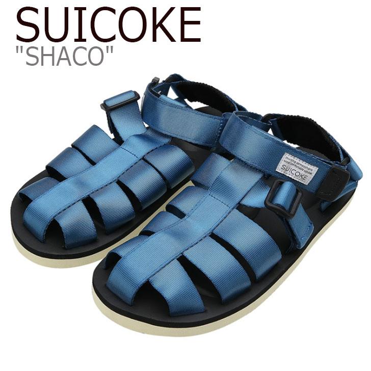 スイコック サンダル SUICOKE メンズ SHACO シャコ BLUE ブルー S1404SN07BL シューズ