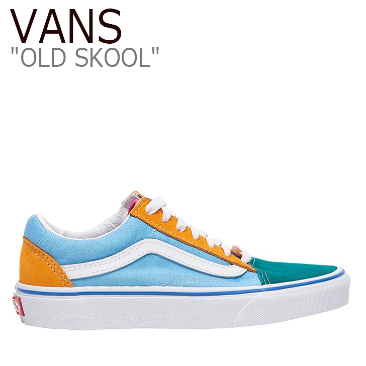バンズ オールドスクール スニーカー VANS メンズ OLD SKOOL Colorblock Multi Bright カラーブロック マルチカラー VN0A38G1T0B シューズ
