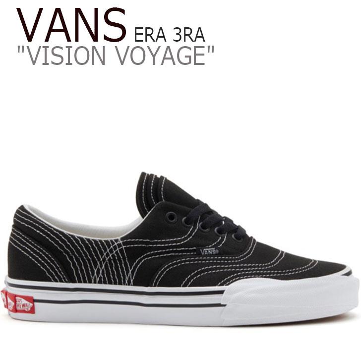 バンズ エラ スニーカー VANS メンズ VISION VOYAGE ERA 3RA ビジョン ボヤージ エラ BLACK ブラック TRUE WHITE ホワイト VN0A4BTMVY41 シューズ