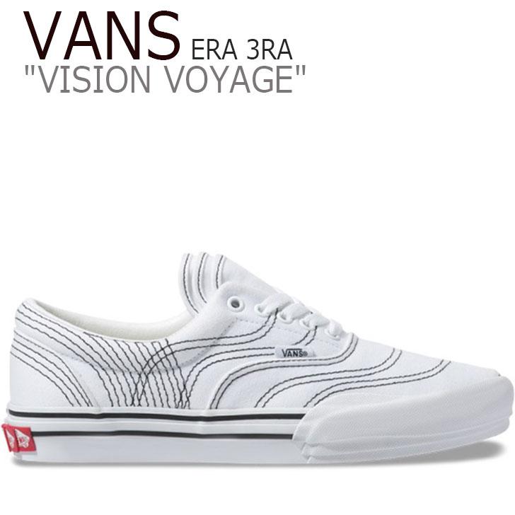 バンズ エラ スニーカー VANS メンズ VISION VOYAGE ERA 3RA ビジョン ボヤージ エラ TRUE WHITE ホワイト BLACK ブラック VN0A4BTMVY61 シューズ