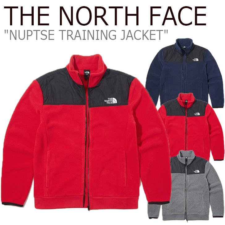 ノースフェイス フリース THE NORTH FACE メンズ NUPTSE TRAINING JACKET ヌプシ トレーニング ジャケット GREY グレー RED レッド INK インク NJ5JK52A/B/C ウェア 【中古】未使用品