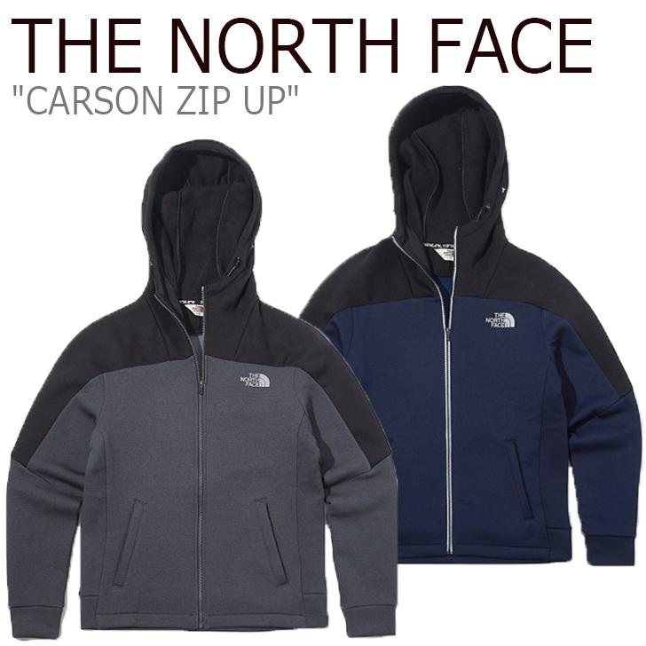 ノースフェイス パーカ THE NORTH FACE メンズ CARSON ZIP UP カーソン ジップアップ GREY グレー NAVY ネイビー NJ5JK52J/K ウェア 【中古】未使用品