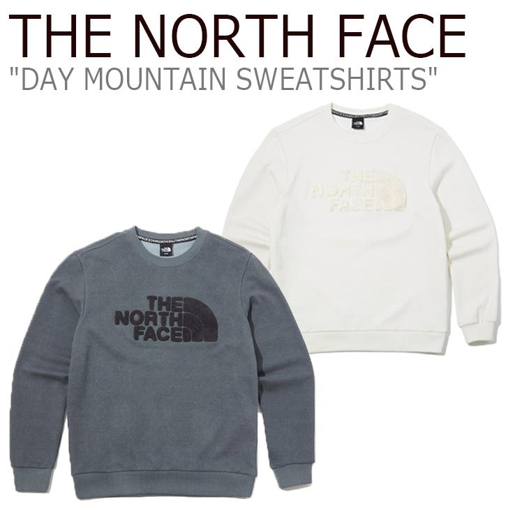 ノースフェイス トレーナー THE NORTH FACE メンズ DAY MOUNTAIN SWEATSHIRTS デー マウンテン スウェットシャツ GRAY グレー CREAM クリーム NM5MK50A/B ウェア 【中古】未使用品