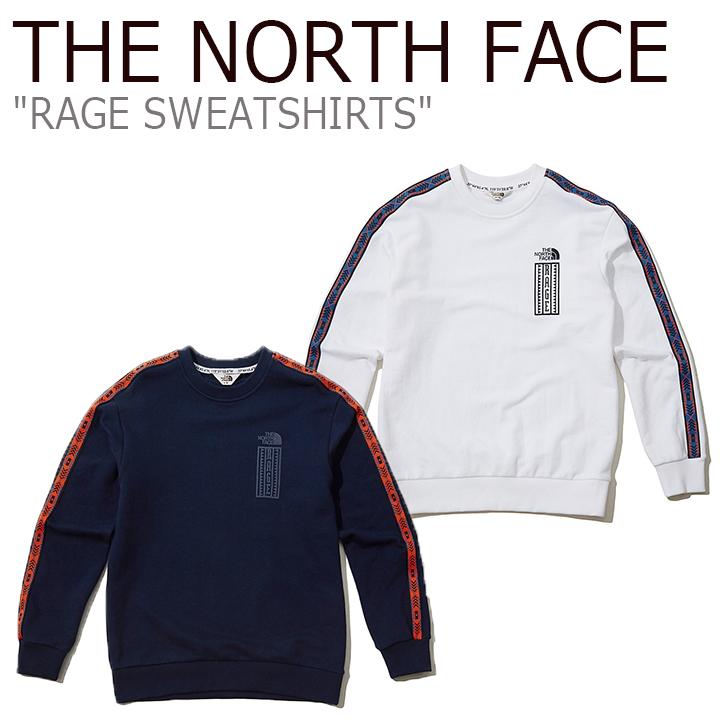 ノースフェイス トレーナー THE NORTH FACE メンズ レディース RAGE SWEATSHIRTS レイジ スウェットシャツ WHITE NAVY ホワイト ネイビー NM5MK53J/K ウェア 【中古】未使用品