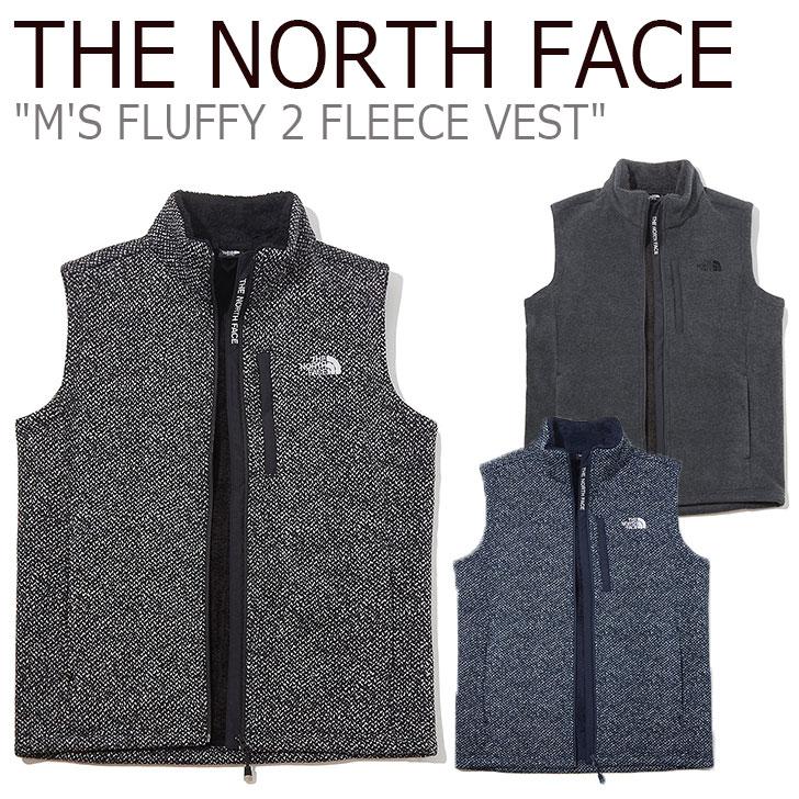 フリース ノースフェイス THE NORTH FACE メンズ M'S FLUFFY 2 FLEECE VEST フラフィー2 フリースベスト REAL BLACK リアルブラック CHARCOAL チャコール INDIGO インディゴ NV4FK52A/B/C ウェア 【中古】未使用品