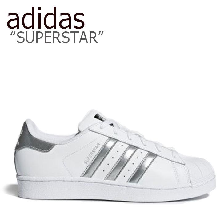 アディダス スーパースター スニーカー adidas メンズ レディース SUPERSTAR スーパースター WHITE SILVER ホワイト シルバー AQ3091 シューズ 【中古】未使用品