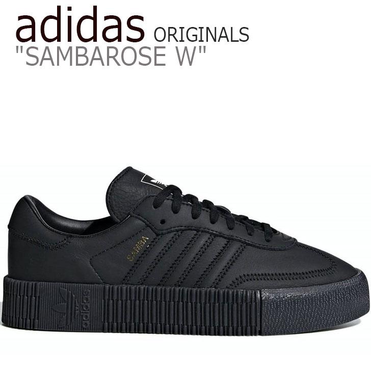 アディダス オリジナルス スニーカー adidas レディース ORIGINALS SAMBAROSE W オリジナルス サンバローズ BLACK ブラック B37067 シューズ 【中古】未使用品
