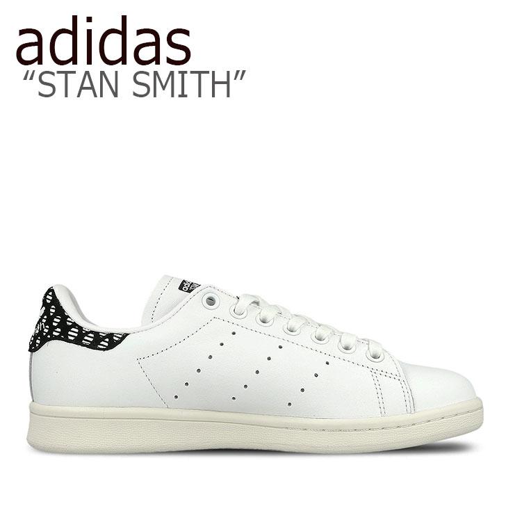 WHITE レディース adidas 【中古】未使用品 スニーカー ホワイト BZ0568 SMITH スミス スタン アディダス ブラック STAN BLACK シューズ スタンスミス
