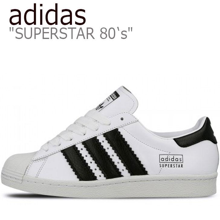 アディダス スーパースター スニーカー adidas レディース SUPERSTAR 80's スーパースター 80's WHITE ホワイト BLACK ブラック CG6496 シューズ 【中古】未使用品