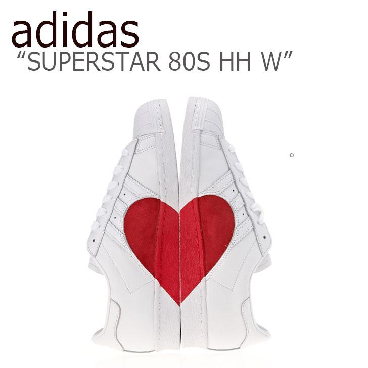 アディダス スーパースター スニーカー adidas メンズ レディース SUPERSTAR 80S HALF HEART W スーパースター80S ハーフハート WHITE SCARLE ホワイト スカーレット CQ3009 シューズ 【中古】未使用品