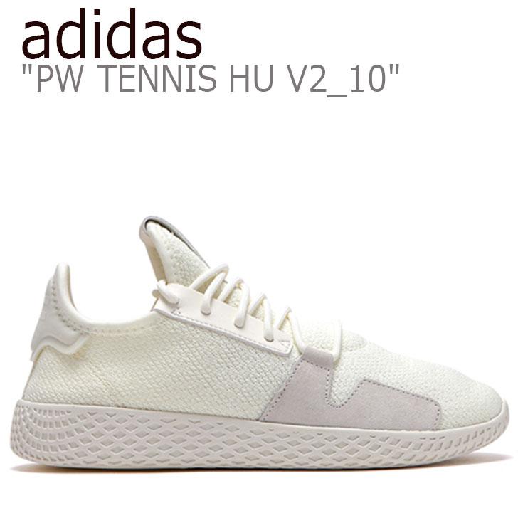 アディダス スニーカー adidas メンズ レディース PW TENNIS HU V2_10 ファレル・ウィリアムス テニス・ヒューマン WHITE ホワイト FLAD9A1U19 DB3327 シューズ 【中古】未使用品